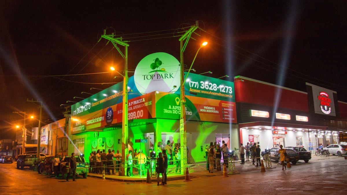 Loja conceito do Loteamento Top Park ao lado da Terramac Empreendimentos