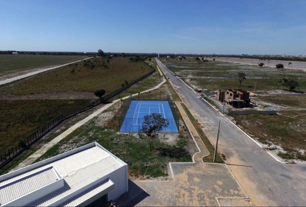 E Quadra park oeste residence | fitness e quadra de tênis | vista aérea