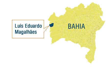 Luís Eduardo Magalhães está no oeste baiano, mais próximo de Brasília do que de Salvador